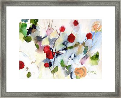 Rose Hips At Christmas II Framed Print
