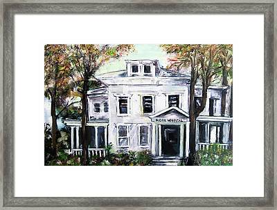 Rose Hospital Framed Print