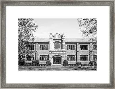 Rose Hulman Institute Moench Hall Framed Print by University Icons