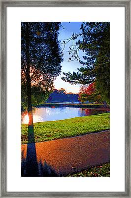 Rose Hulmn Lake Scene Image Framed Print by Paul Price