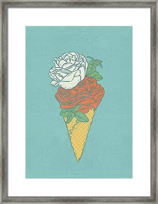 Rose Ice Cream Framed Print by Evgenia Chuvardina