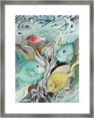 Rose Island Iv Framed Print by Liduine Bekman