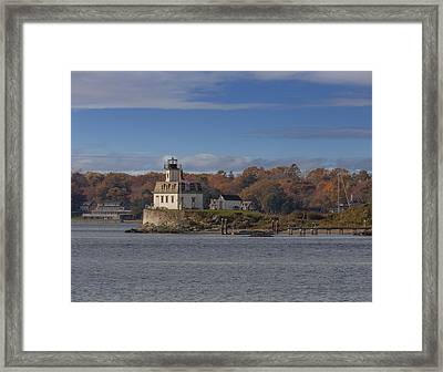 Rose Island Lighthouse  Framed Print