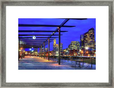 Rose Kennedy Greenway - Boston North End Framed Print