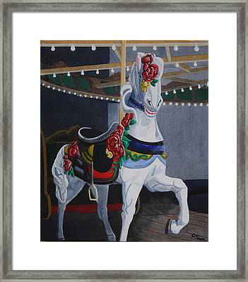 Rose Lead Horse Framed Print