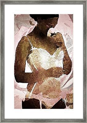 Rose Lingerie Framed Print by Lynda Payton