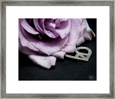 Rose Love And Peace Tow Framed Print by Karen Musick