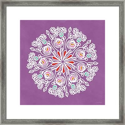 Rose Mandala 1- Art By Linda Woods Framed Print