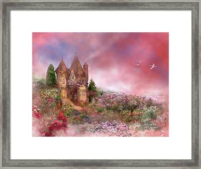Rose Manor Framed Print by Carol Cavalaris