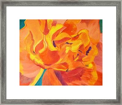 Heart Of A Rose Framed Print