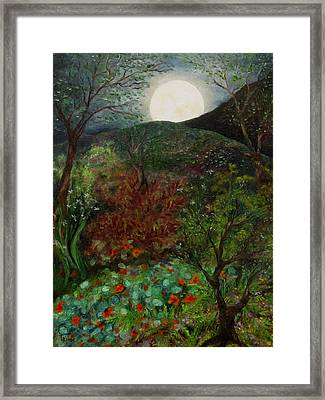 Rose Moon Framed Print