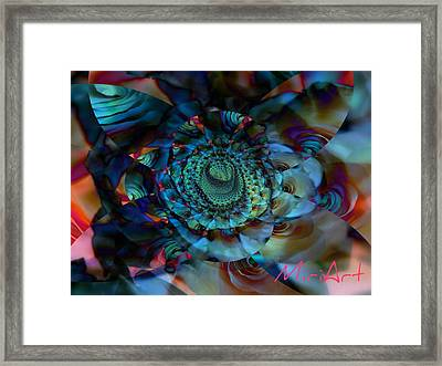 Framed Print featuring the photograph Rose Motif by Miriam Shaw