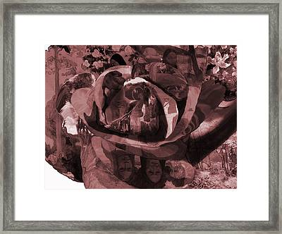 Framed Print featuring the painting Rose No 2 by David Bridburg