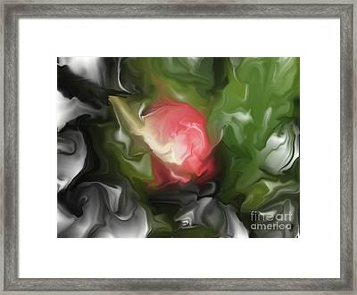 Rose On Troubled Water Framed Print