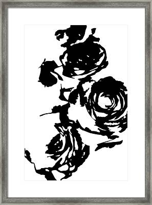Rose Outline Framed Print