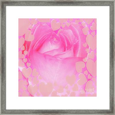 Rose Pastel Soft Sorbet 4 Framed Print by Mona Stut