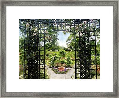 Rose Pergola Views Framed Print by Jessica Jenney