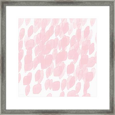 Rose Rain- Art By Linda Woods Framed Print