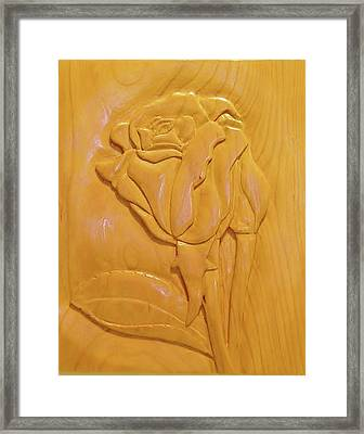 Rose Relief Framed Print by Russell Ellingsworth