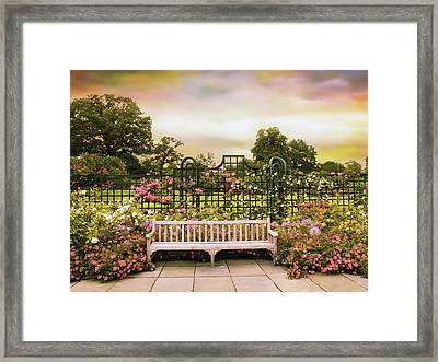 Rose Respite Framed Print by Jessica Jenney