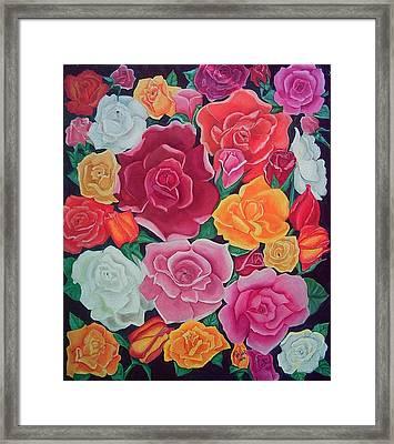 Rose Reunion Framed Print by Kathern Welsh