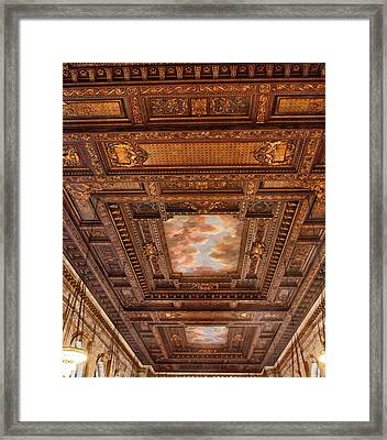 Framed Print featuring the photograph Rose Room Ceiling by Jessica Jenney