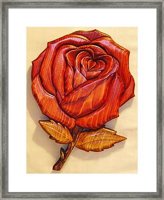 Rose Framed Print by Russell Ellingsworth