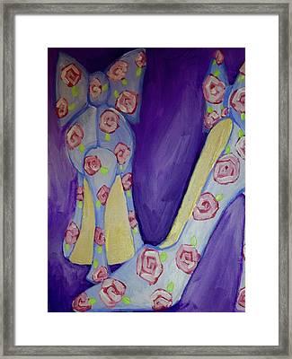 Rose Shoes Framed Print