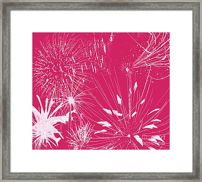 Framed Print featuring the digital art Rose Splash by Methune Hively