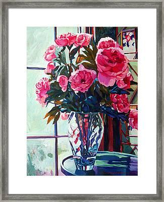 Rose Symphony Framed Print by David Lloyd Glover