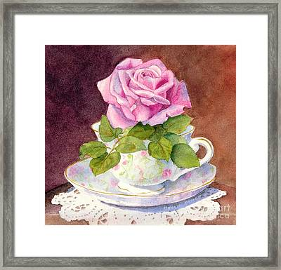 Rose Tea Framed Print