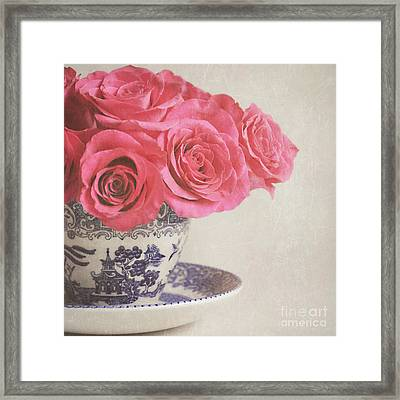 Framed Print featuring the photograph Rose Tea by Lyn Randle