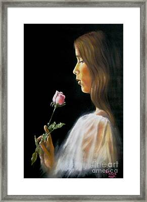 Rose Framed Print by Tony Calleja