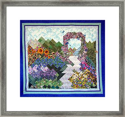 Rose Trellis Garden Framed Print by Sarah Hornsby