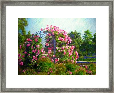 Rose Trellis Framed Print by Michael Durst