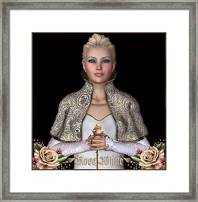 Rose White Framed Print by David Griffith