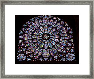 Rose Window At Notre Dame Cathedral Paris Framed Print by Jon Berghoff