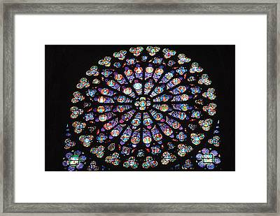 Rose Window Of Notre Dame Paris Framed Print