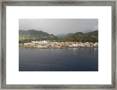 Framed Print featuring the photograph Roseau Dominica by Gary Wonning
