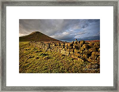 Roseberry Topping Framed Print by Nichola Denny