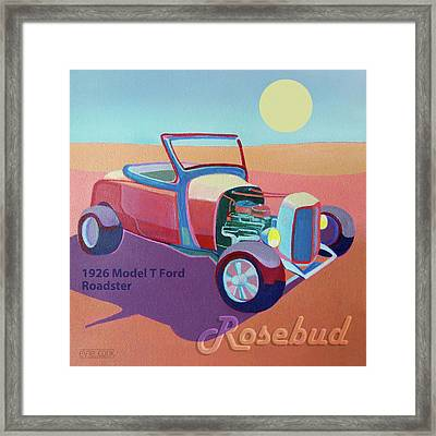 Rosebud Model T Roadster Framed Print by Evie Cook