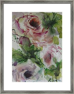 Framed Print featuring the painting Rosebuds by Robert Joyner