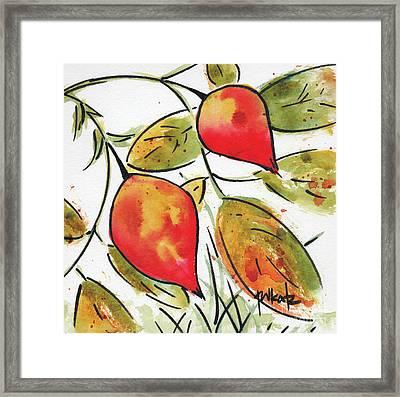 Rosehips In Autumn Framed Print