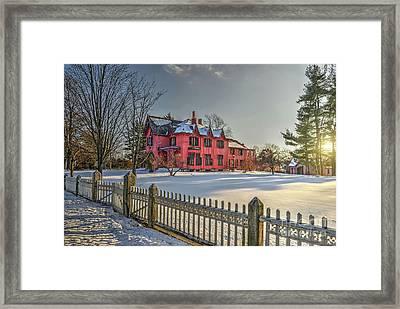 Roseland Cottage In Winter Framed Print