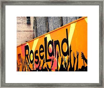 Roseland Ballroom In Nyc Framed Print