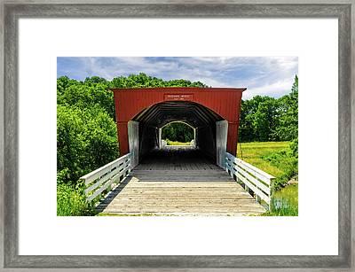 Roseman Covered Bridge Madison County Iowa  -  Std2 Framed Print by Frank J Benz