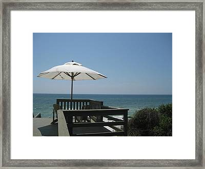 Rosemary Beach Framed Print by Nina  Kamp