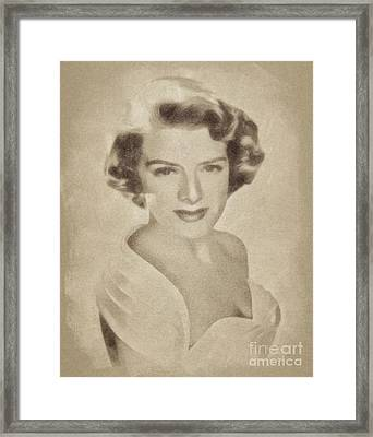 Rosemary Clooney, Singer And Actress By John Springfield Framed Print