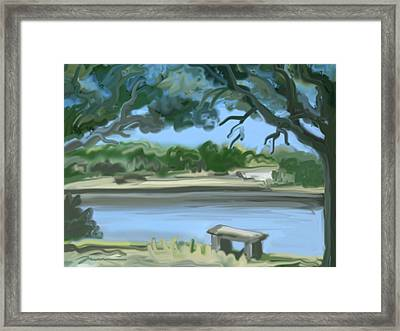 Rosemary Lake Framed Print by Jean Pacheco Ravinski