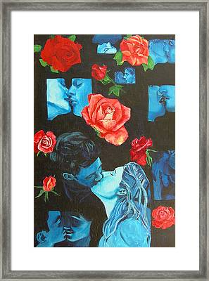 Roses And Kisses Framed Print